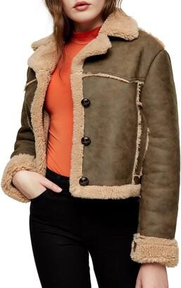 Jackie Faux Shearling Crop Jacket