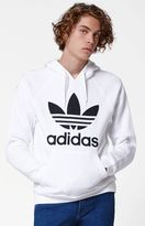 adidas Trefoil White Pullover Hoodie