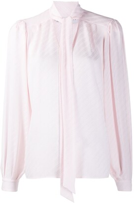 Givenchy Striped Pussybow Blouse