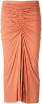 Rick Owens Lilies rushed mid-length skirt - women - Cotton/Polyamide/Viscose - 38