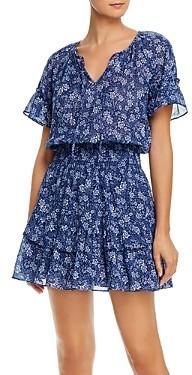Parker Queenie Cotton Print Mini Dress