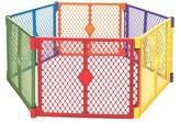 North States Industries Superyard Colorplay® 6 panel Freestanding Gate