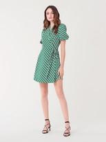 Diane von Furstenberg Maisie Crepe Mini Wrap Dress