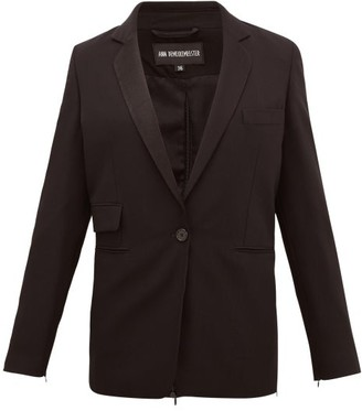 Ann Demeulemeester Zipped-back Single-breasted Wool Jacket - Black