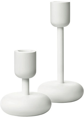 Iittala Set of 2 Nappula Candleholders - White