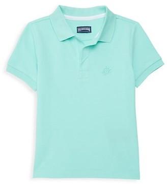 Vilebrequin Little Boy's & Boy's Turtle Cotton Polo Shirt