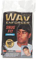 Wav Enforcer Snug Fit Bold Black Do Rag