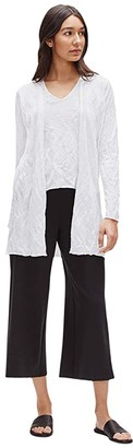 Eileen Fisher Long Cardigan (Ivory) Women's Clothing