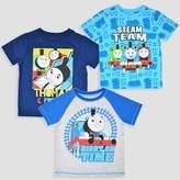 Thomas Laboratories Toddler Boys' 3pk & Friends Short Sleeve T-Shirt - Blue