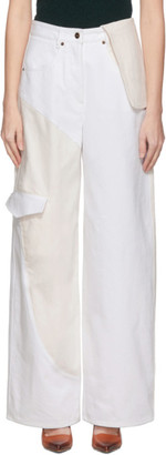 Jacquemus White and Off-White Le Jean De Nimes Jeans