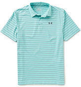 Under Armour Golf Coolswitch Putting Stripe Short-Sleeve Polo Shirt