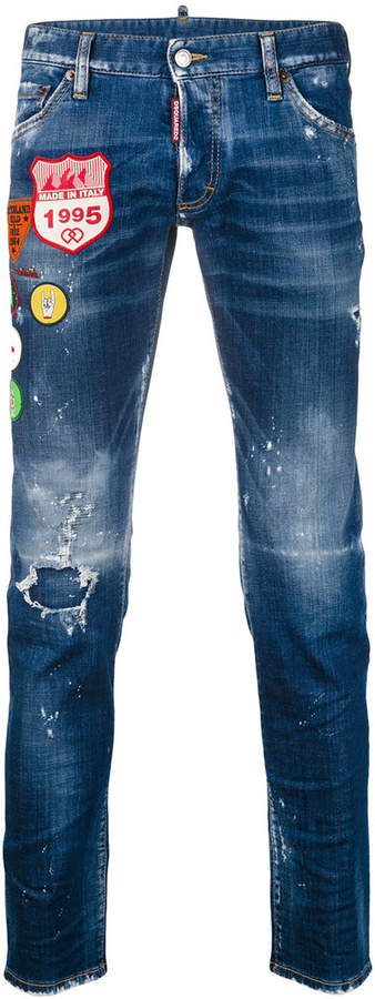 DSQUARED2 embroidered Clement jeans