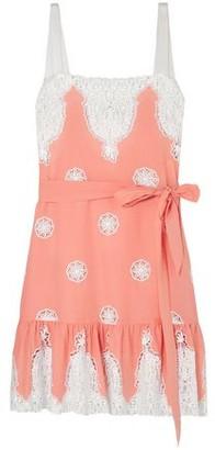 Miguelina Mindy Lace-trimmed Cotton-voile Mini Dress