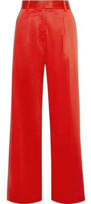 Baum und Pferdgarten Pleated Cotton-blend Poplin Wide-leg Pants