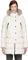 Moncler Ivory Fur & Down Fragonette Coat