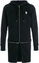 Alexander McQueen double zip longline hoodie - men - Cotton/Polyester - XS