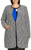 City Chic Geo Print Follow Me Jacket