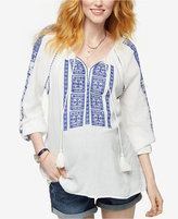 A Pea in the Pod Maternity Embroidered Split-Neck Top