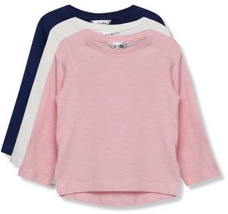 M&Co Long sleeve t-shirts three pack (9mths-5yrs)