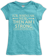 Urban Smalls Heather Aqua 'For When I Am Weak' Fitted Tee - Toddler & Girls