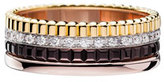 Boucheron Classic Quatre 18k Four-Color Gold Small Diamond Band Ring, Size 55