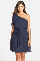Amsale Women's Nouvelle 'Stella' One-Shoulder Chiffon Dress