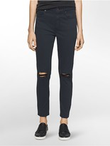 Calvin Klein Ultimate Skinny Distressed Ankle Jeans