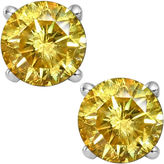 JCPenney FINE JEWELRY 1/2 CT. T.W. Color-Enhanced Yellow Diamond Stud Earrings