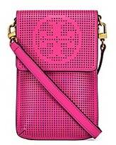 Tory Burch Perforated Logo Phone Cross-Body