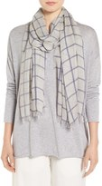 Eileen Fisher Women's Windowpane Modal & Silk Scarf