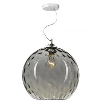 Där Lighting Dar Lighting - Silver Smoked Glass Aulax Pendant Light - Grey