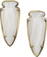 Kendra Scott Kathryn Earrings in White Banded Agate