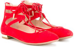 Aquazzura Mini - Mini Belgravia ballerinas - kids - Leather/Suede/rubber - 28