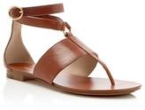 Michael Kors Candice T-Strap Flat Sandals