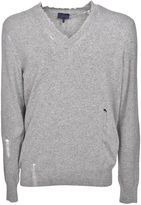 Lanvin Fringed V-neck Sweater