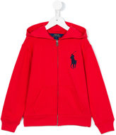 Ralph Lauren embroidered logo hoodie - kids - Cotton - 3 yrs
