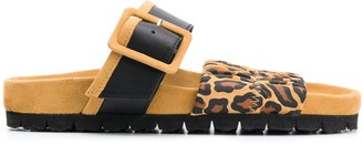 Pierre Hardy Leopard Print Sandals