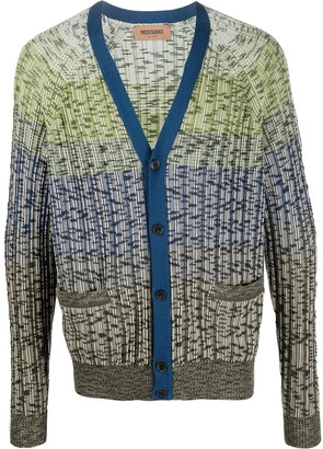 Missoni Knitted Striped Pattern Cardigan