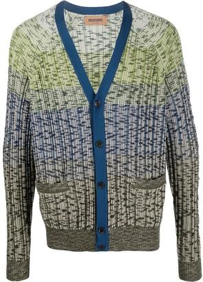 Missoni knitted striped pattern cardigan