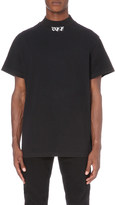 Off-White Mock neck cotton-jersey t-shirt