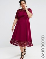 Asos PREMIUM Lace Insert Full Midi Dress