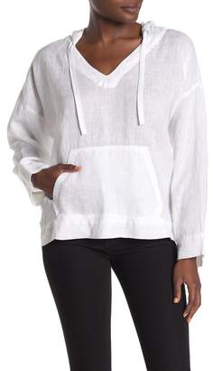 Vince Camuto Long Sleeve Linen Hoodie