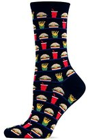 Hot Sox Women's Hamburger, Fries And Drink Trouser Sock