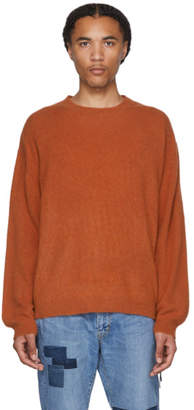 Remi Relief Orange Cashmere Shaggy Sweater