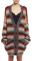 Chloé Striped Mohair Oversized Cardigan