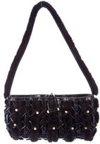 Nancy Gonzalez Mink-Trimmed Crocodile Bag