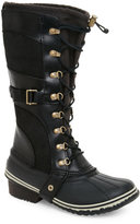 Sorel Black Conquest Carly Lace Snow Boots