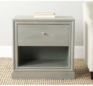 Highland Dunes Joanna Solid Wood Block End Table with Storage