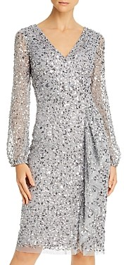 Adrianna Papell Sequined Cocktail Dress