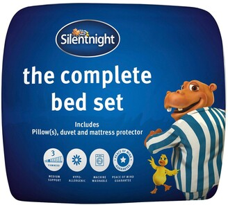 Silentnight Complete Bed Set - Includes 10.5 Tog Duvet, Mattress Protector and Pillow(s)